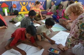 Engaging art activity