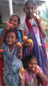 fruit eating